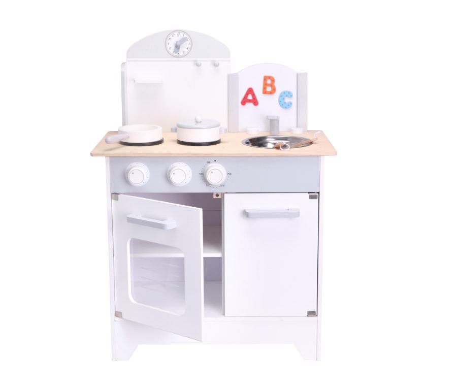 Small Wood - Play Kitchen - Grey (L40193)