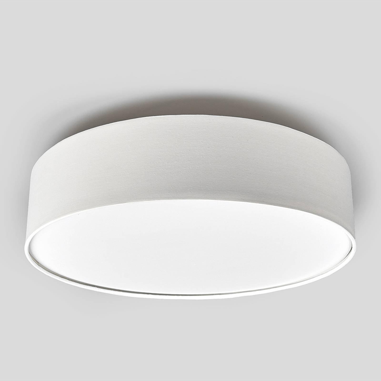 Kremfarget LED-taklampe Sebatin av stoff