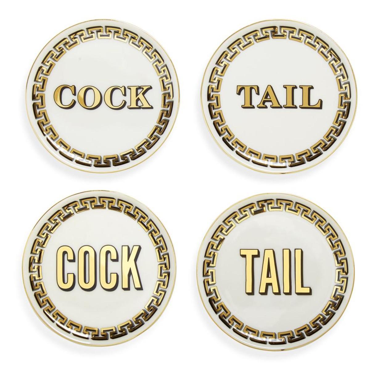 Jonathan Adler I Cock/Tail Coasters