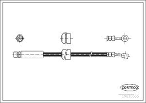 Bromsslang, framaxel höger, Höger, Vänster