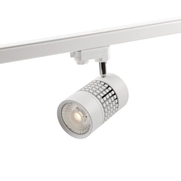 Hide-a-Lite Comfort Track Maxi Spotlight 25 W, hvit 60° comfort-linse