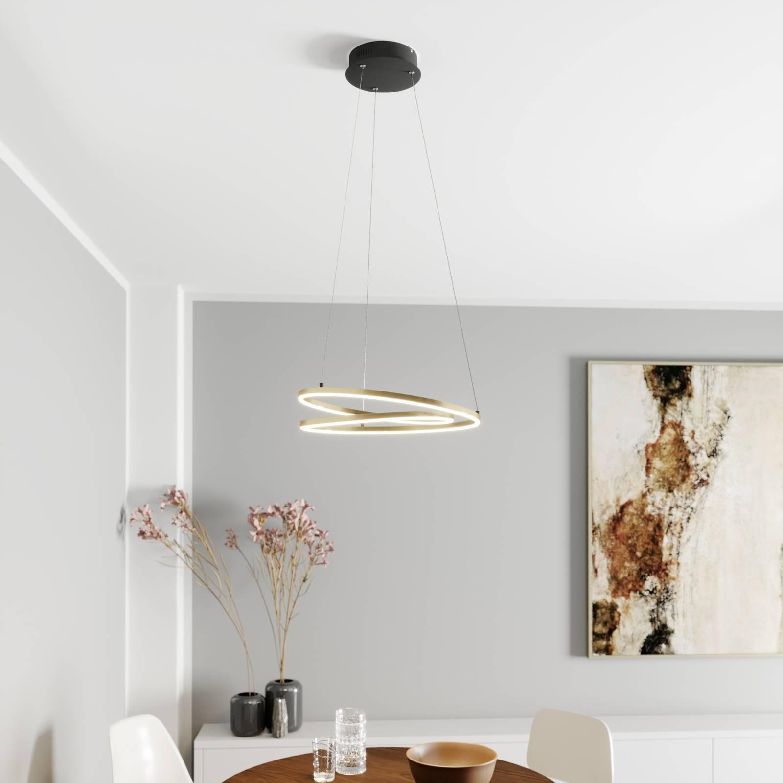 Lindby Davian LED-riippuvalaisin, messinki