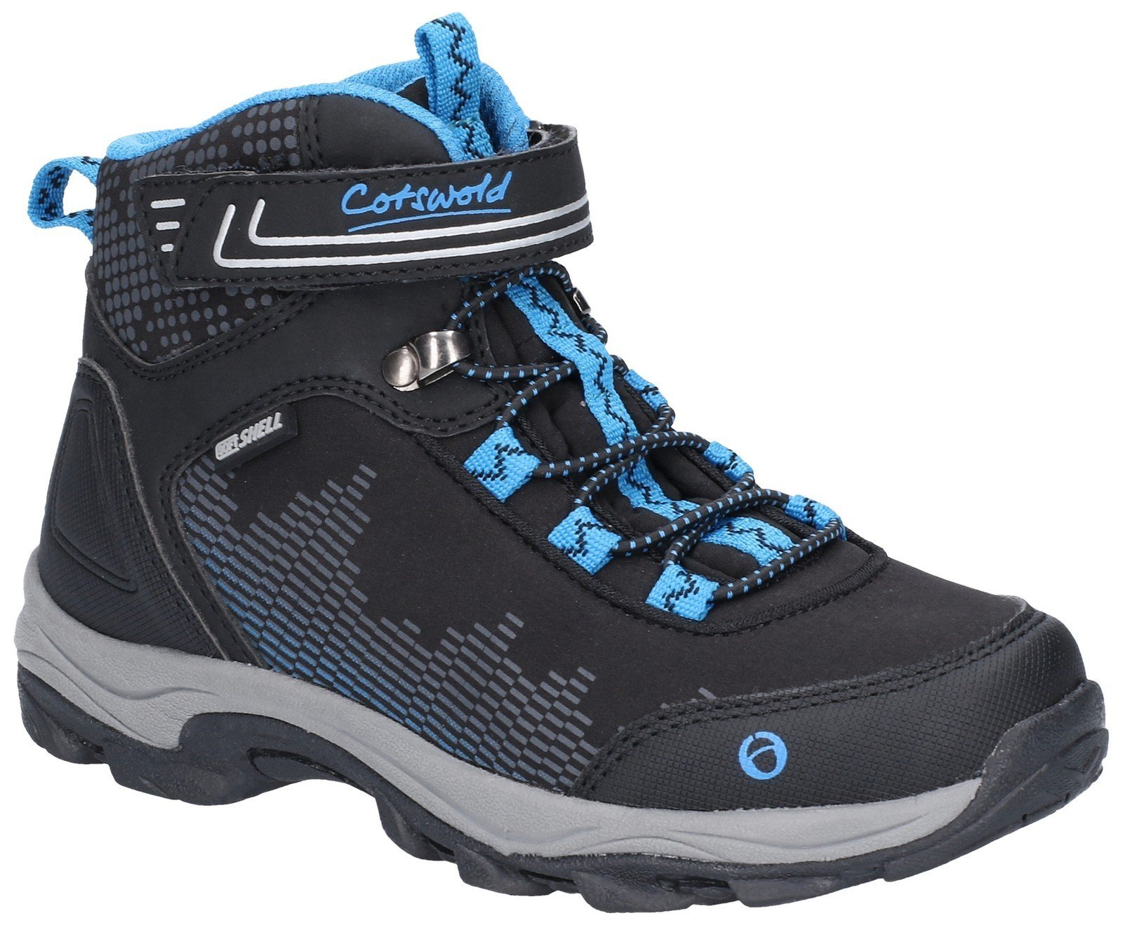 Cotswold Kids Ducklington Hiking Waterproof Boot Multicolor 28252 - Black/Blue 8