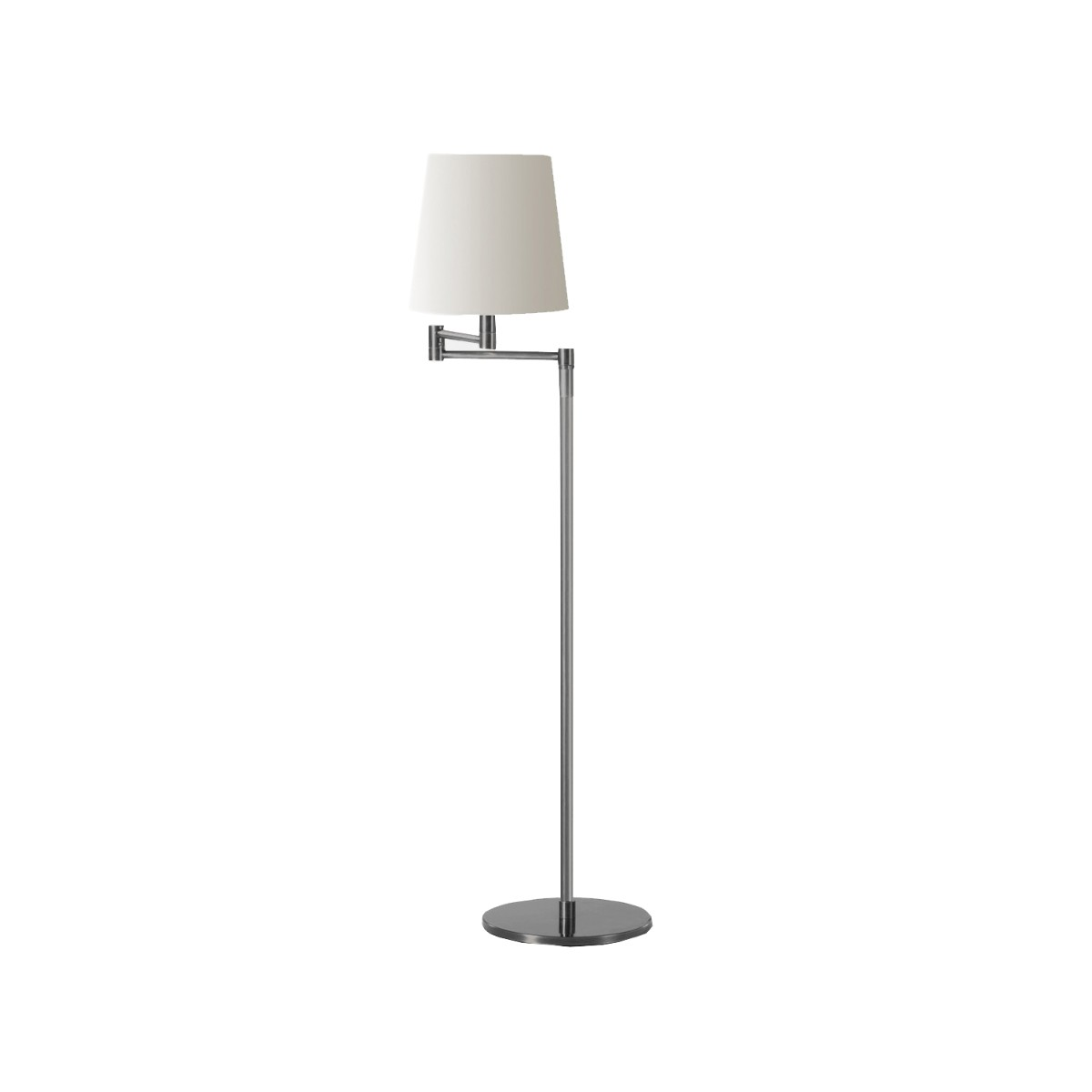 William Yeoward   Isabella Floor Lamp Brushed Nickel