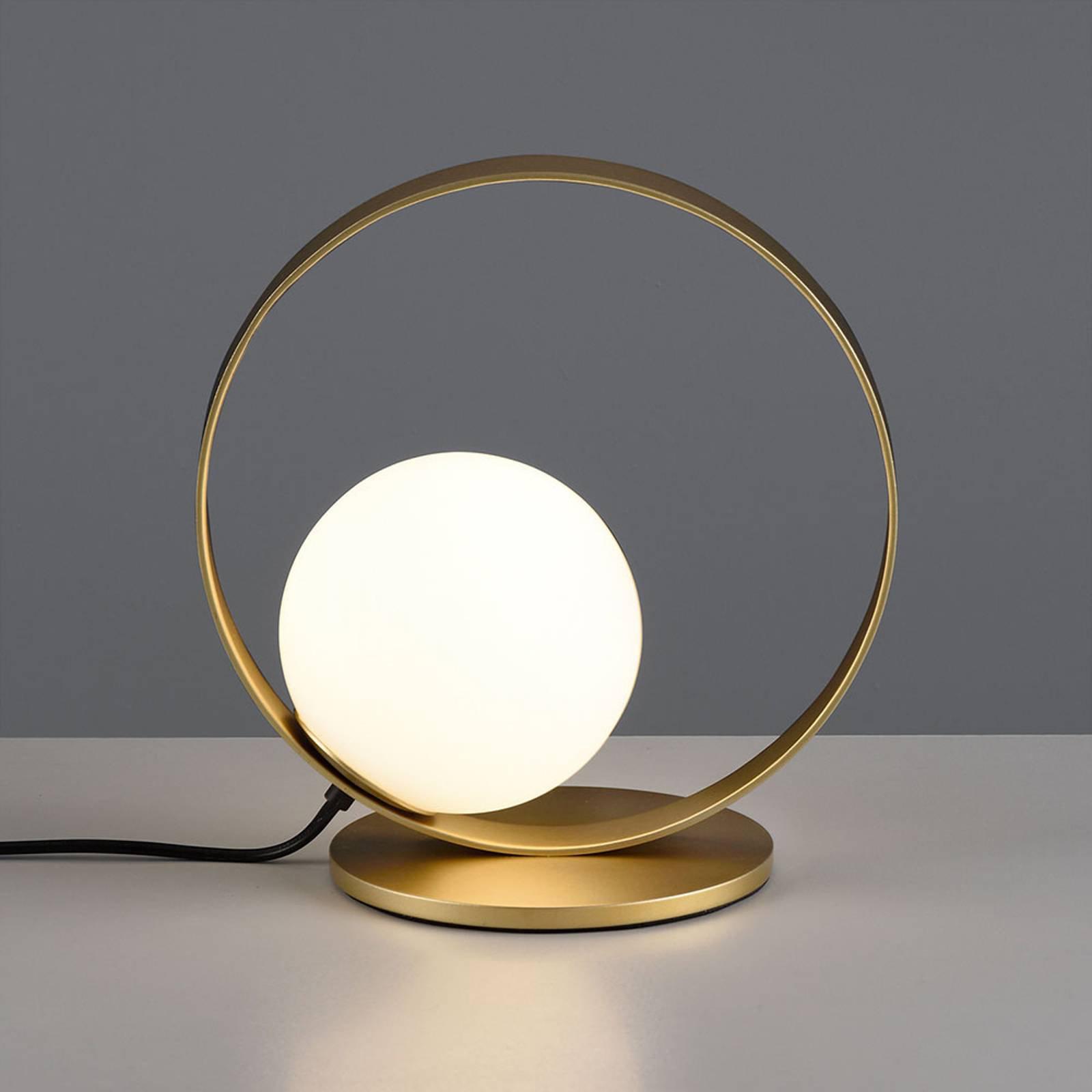 LED-bordlampe Halo, gull og opal