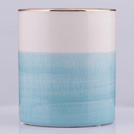 Krukke Blå/Hvit 13 cm