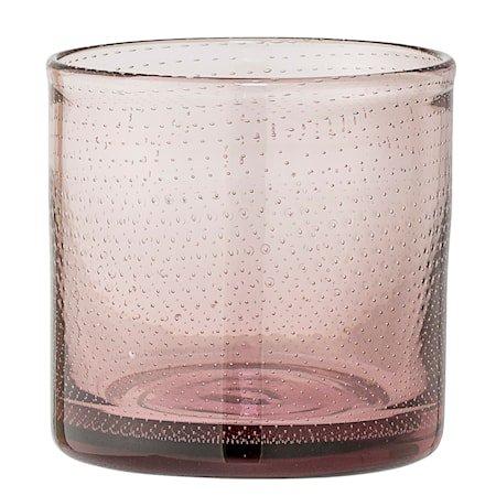 Lyslykt Rosa Glass 10x10 cm