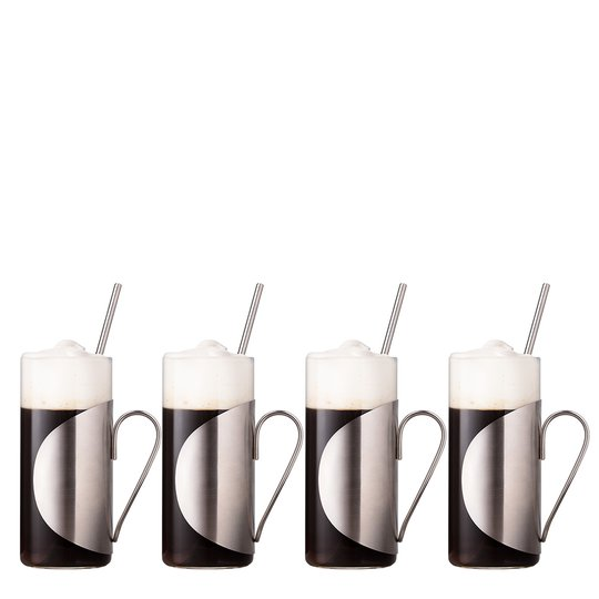 Table Top Stories - Bar Irish Coffeeglas 30 cl med sugrör 4-pack