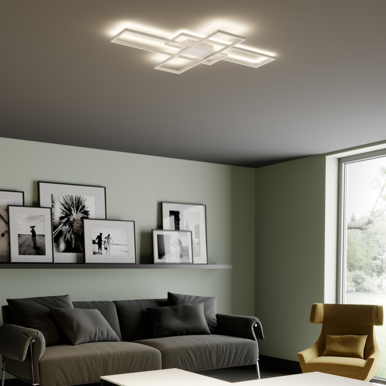 Lindby Tomke -LED-kattovalo, valkoinen, himmennys