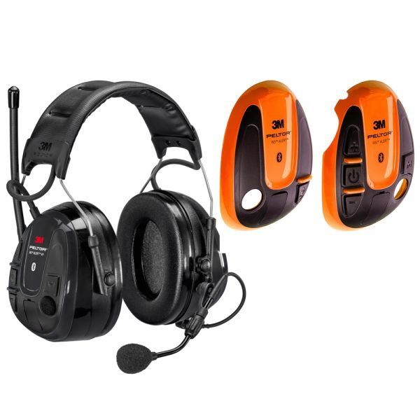 3M Peltor WS Alert XP Hørselsvern med oransje skall, Bluetooth med issebøyle