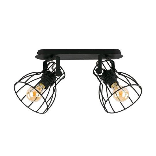 Taklampe Alano, svart, 2 lyskilder