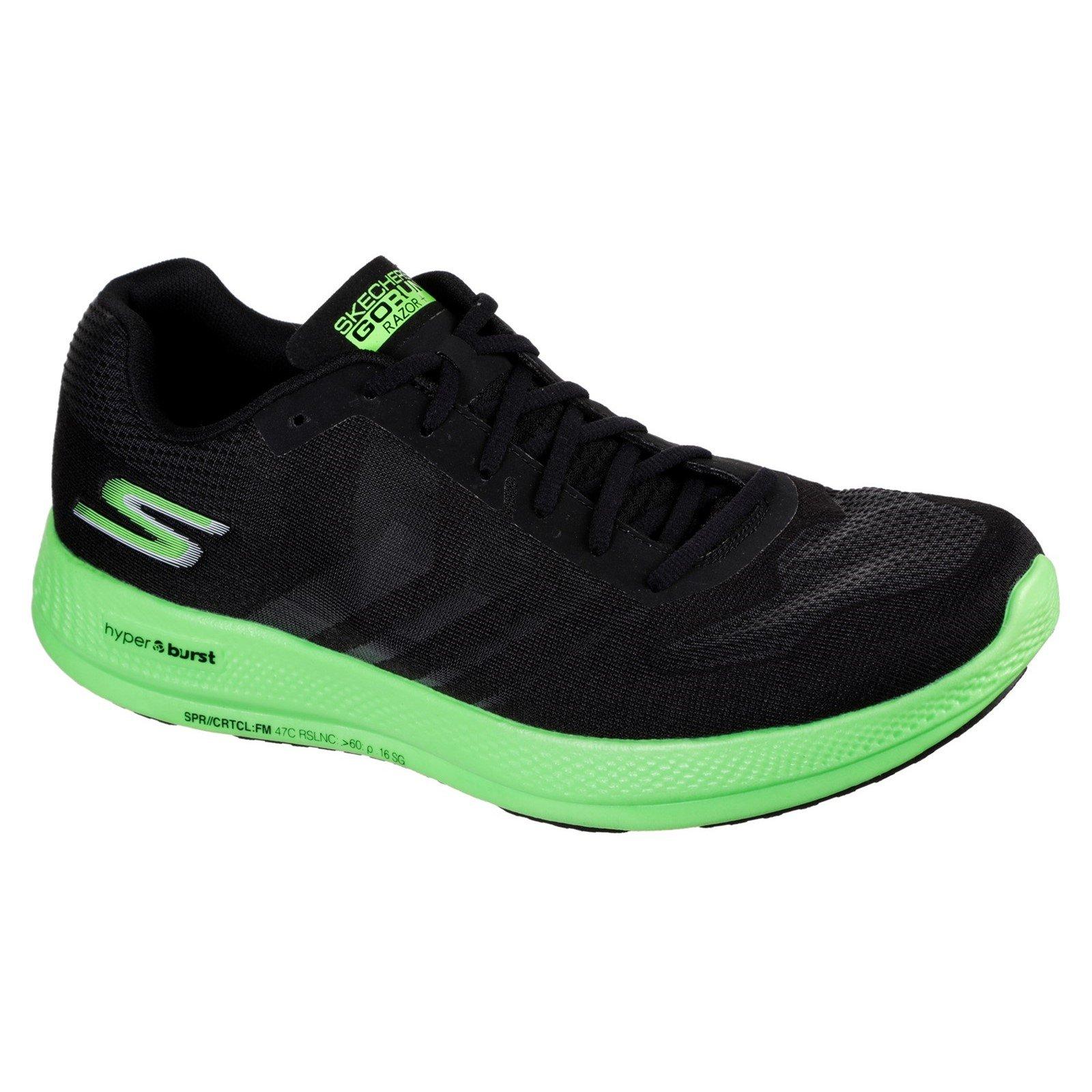 Skechers Men's Go Run Razor Trainer Multicolor 32699 - Black/Green 11
