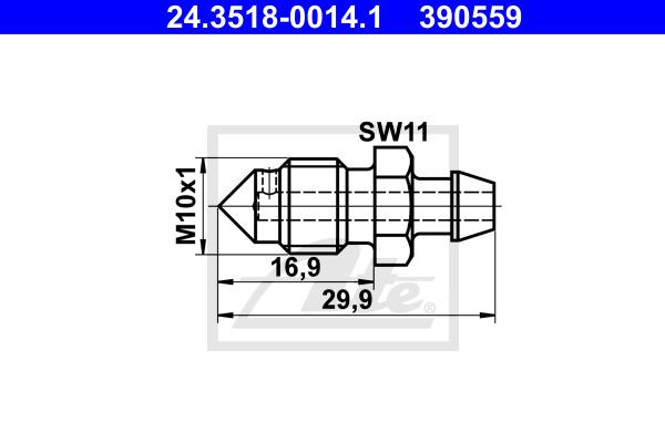 Huohottimen pultti / venttiili ATE 24.3518-0014.1