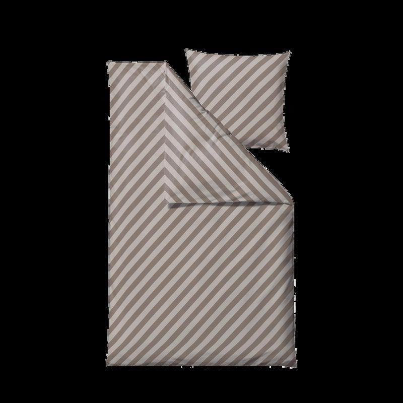 Södahl - Organic Diagonal Bedding 140 x 200 cm - Taupe (15266)
