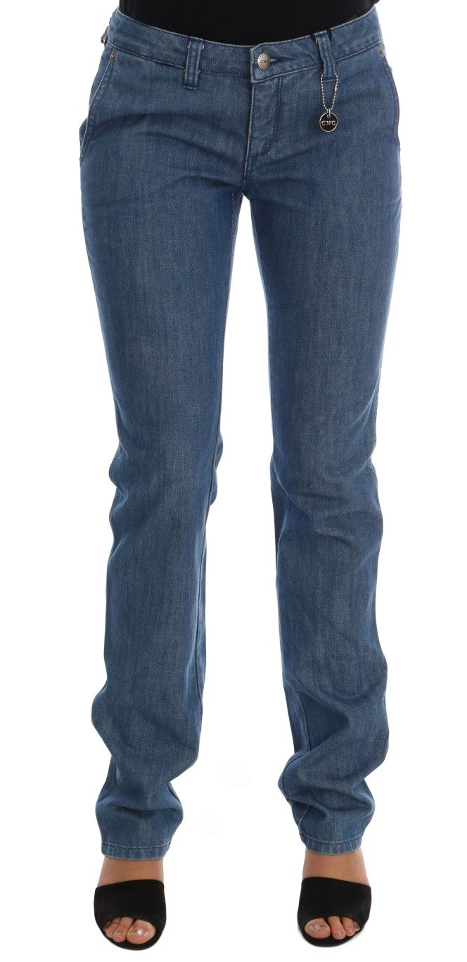 Costume National Women's Wash Cotton Slim Denim Jeans Blue SIG30124 - W26