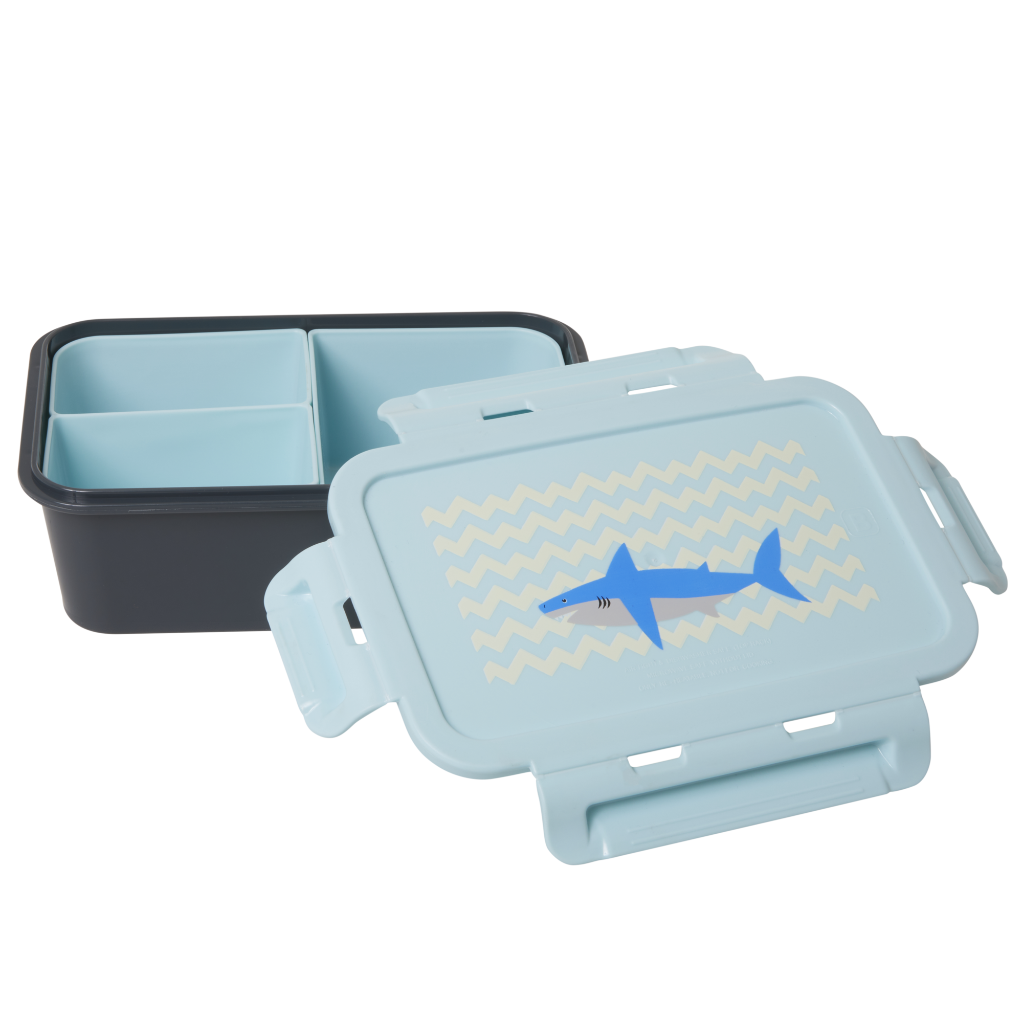Rice - Lunchbox w. 3 Inserts - Shark Print