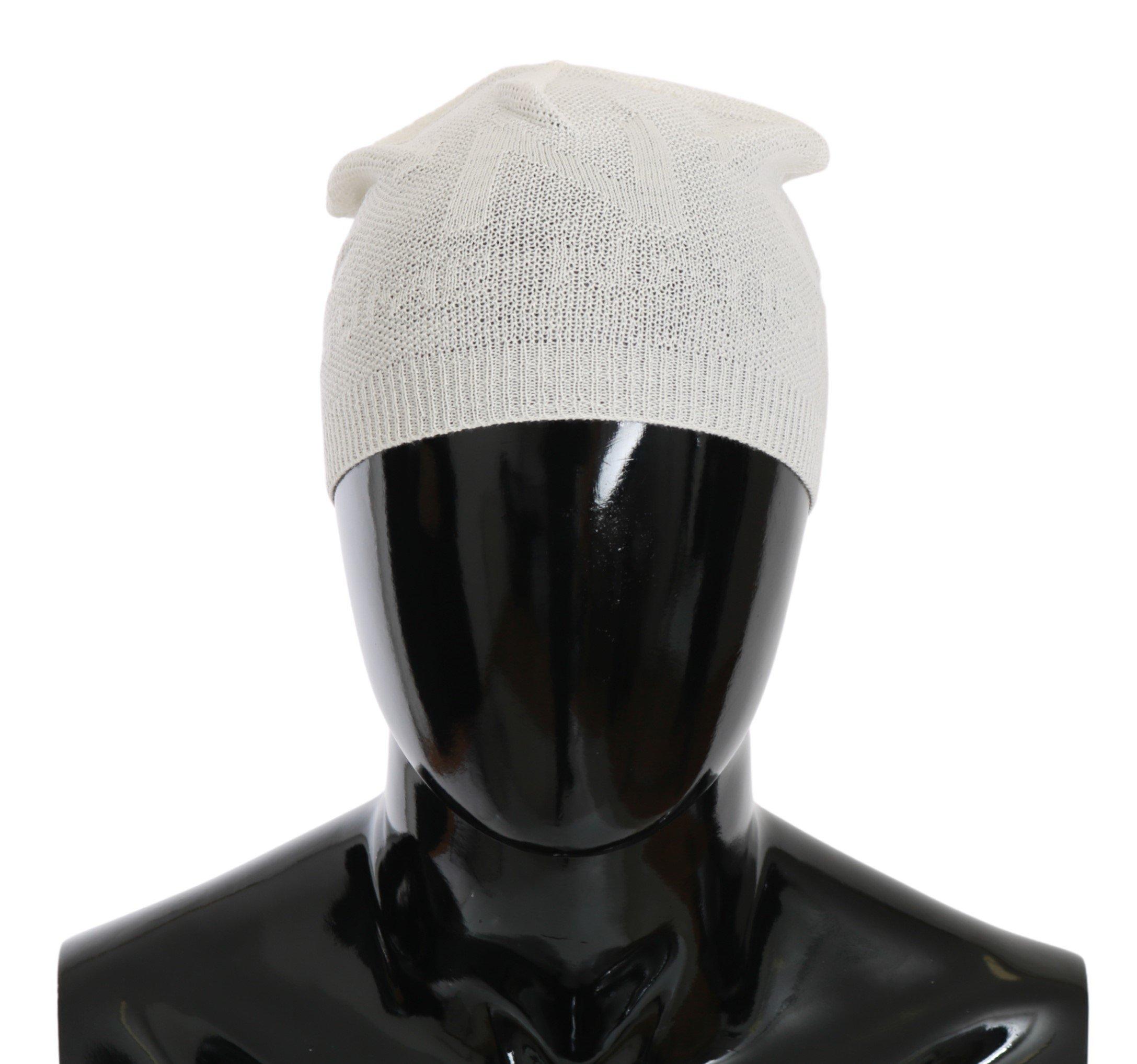 Dolce & Gabbana Men's Wool Blend Branded Hat White HAT20127