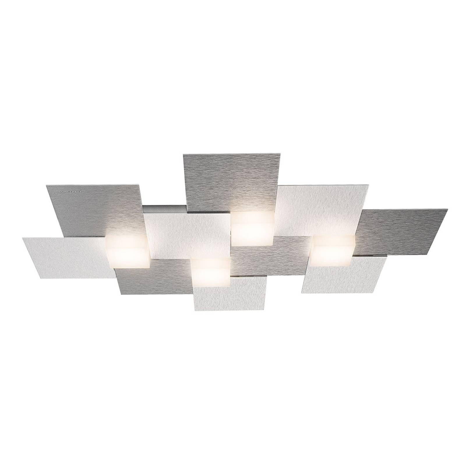 GROSSMANN Creo -kattovalaisin 4-lamp. 55x38,5, alu