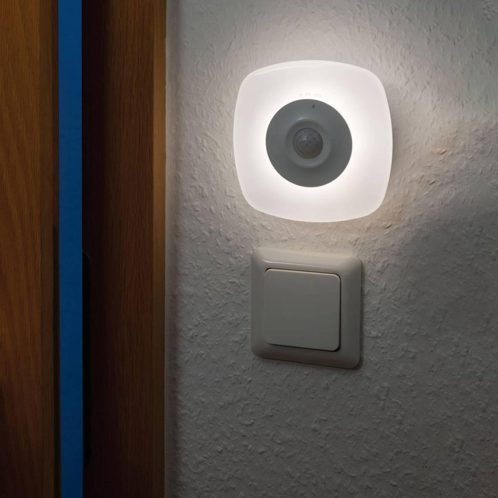 Paulmann Viby -LED-yövalo, siirrettävä, kulmikas