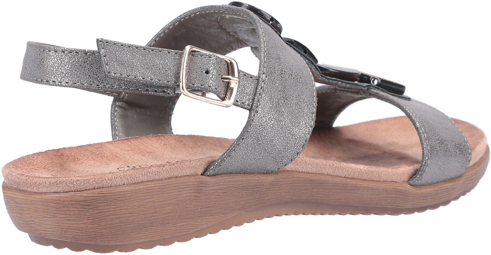 Fleet & Foster Women's Rosa Buckle Sandal Various Colours 30101 - Grey 4