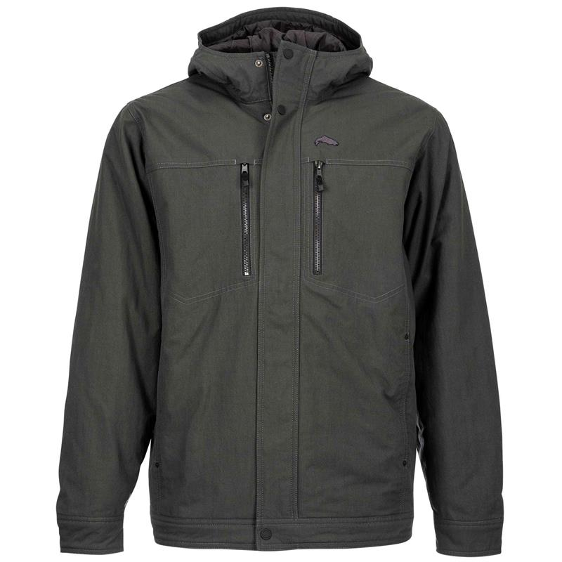 Simms Dockwear Hooded Jacket Carbon L
