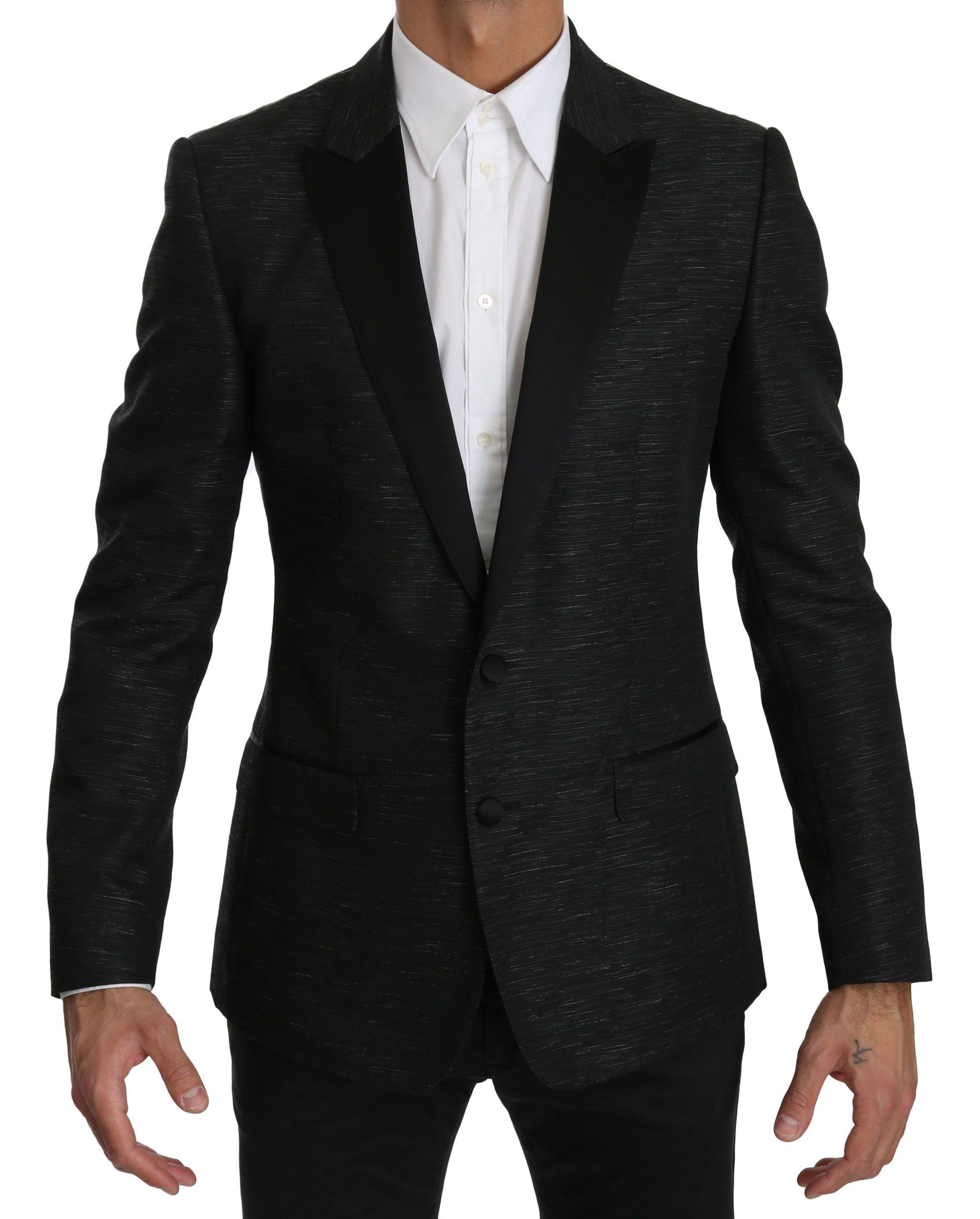 Dolce & Gabbana Men's Slim Fit One Piece MARTINI Blazer Black KOS1563 - IT48 | M