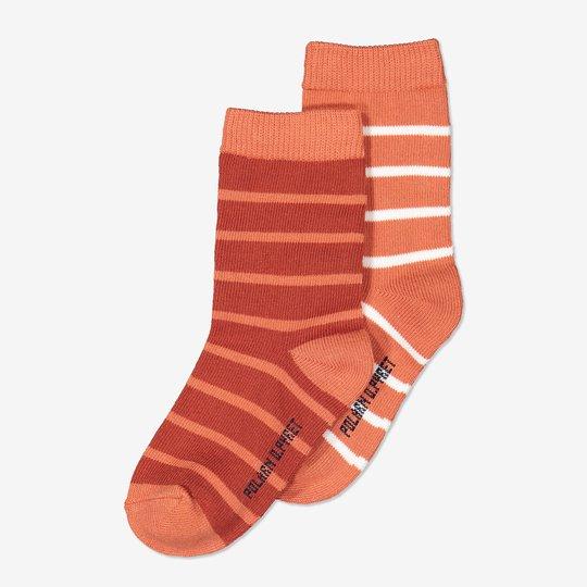 2-pakning stripete sokker orange