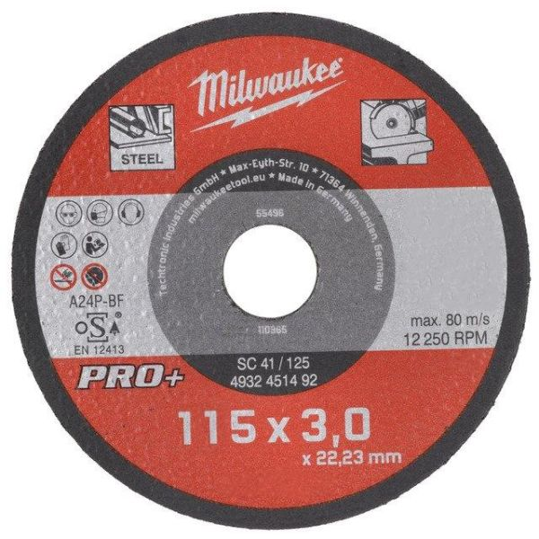 Milwaukee SCS 41 PRO+ Kappskive 115x3 mm