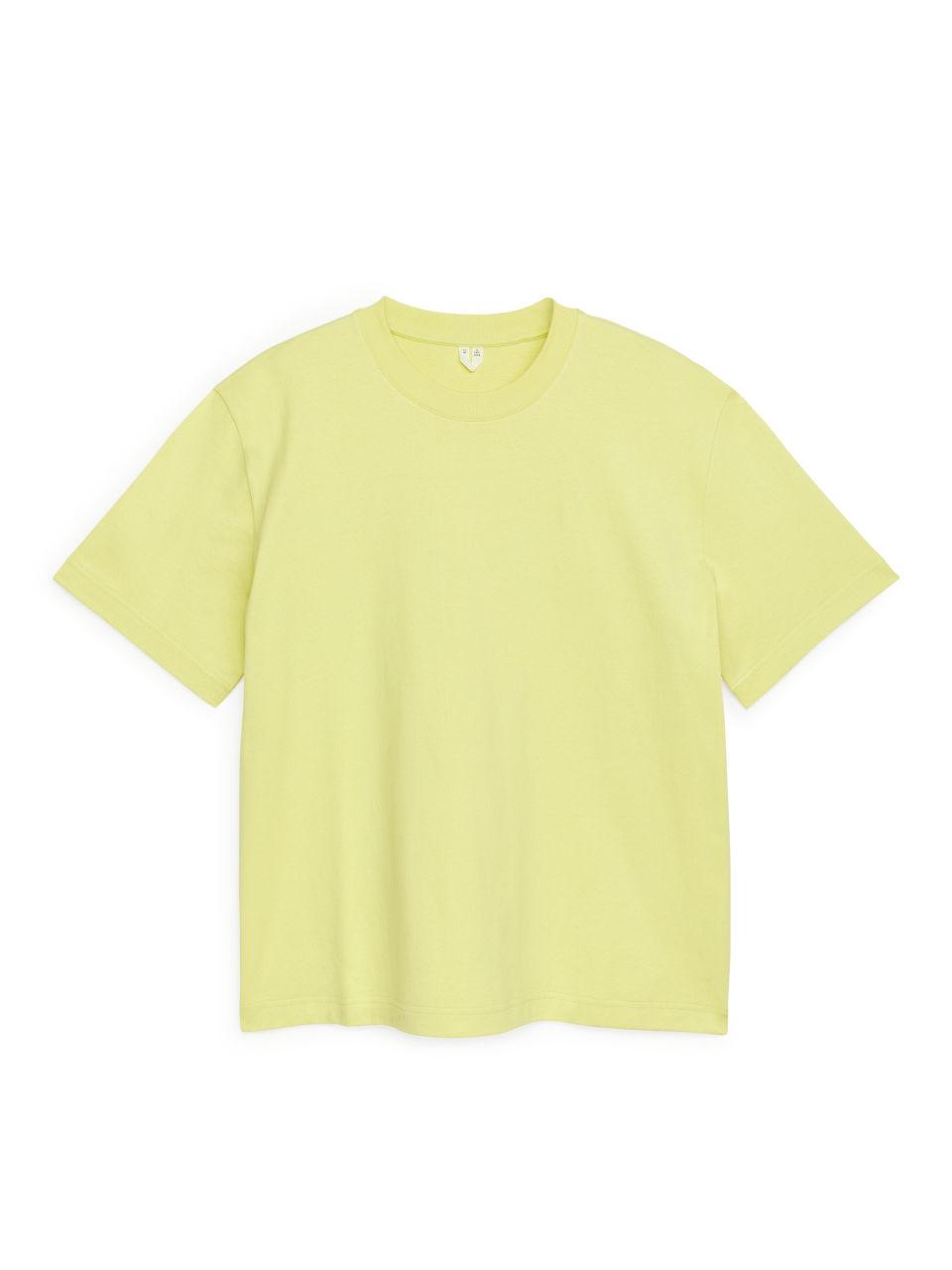Oversized Heavyweight T-shirt - Yellow