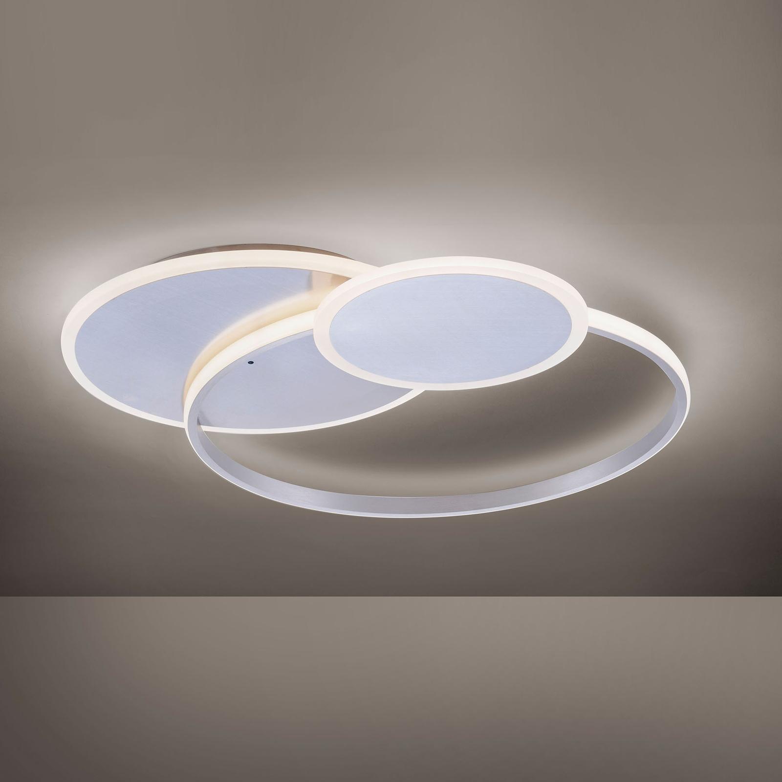 LED-kattovalaisin Emilio, kaukosäädin, pyöreä