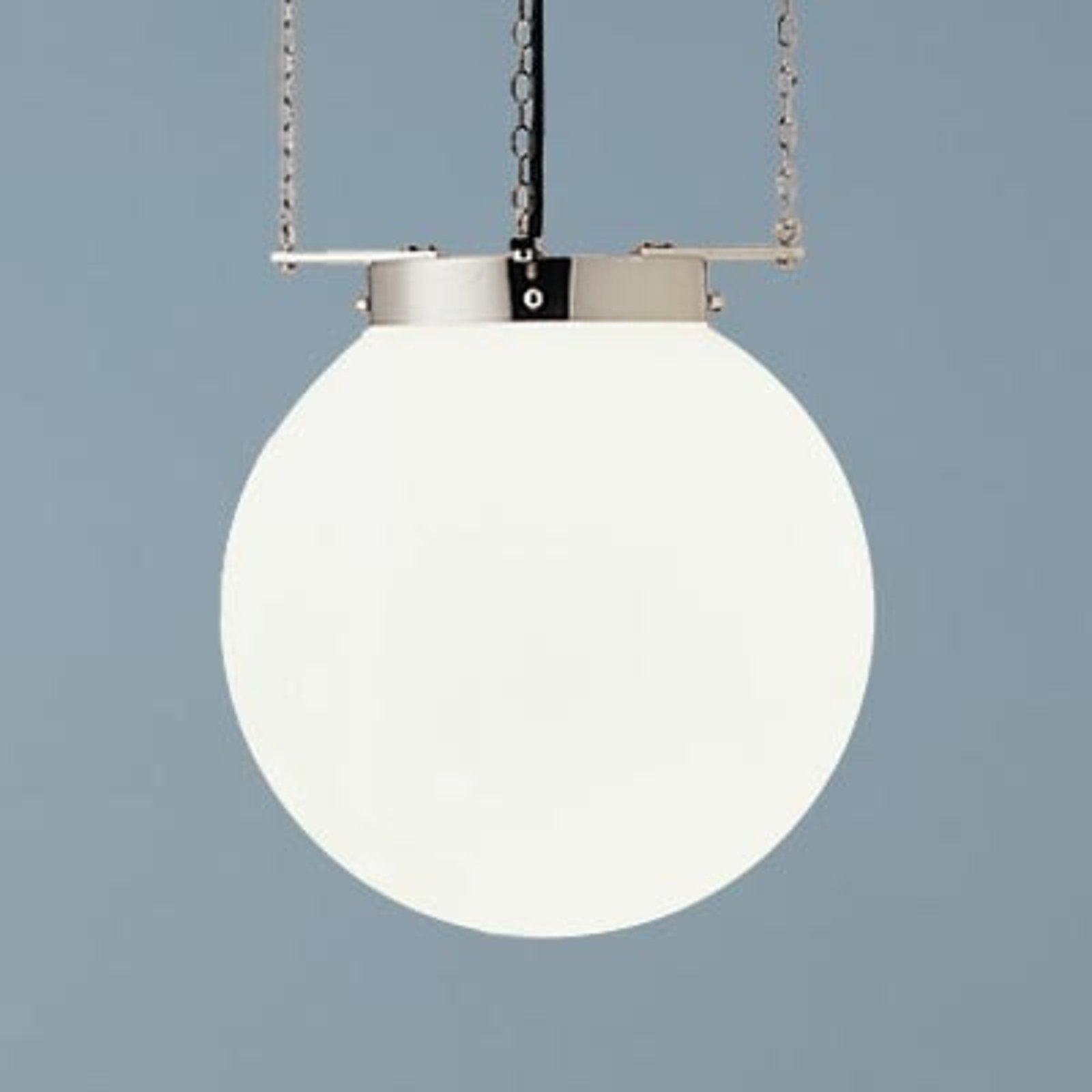 Hengelampe i Bauhaus-stil nikkel 25 cm