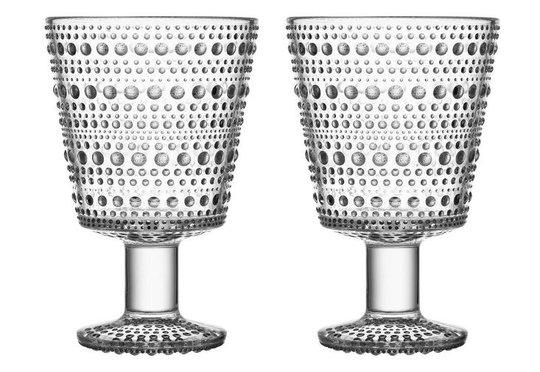 Iittala - Kastehelmi Glas på fot 2-pack Klar