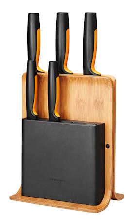 FF knivblokk i bambus med 5 kniver