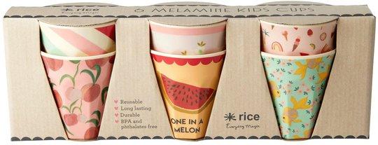 Rice Kopp Melamin Liten Goldfish 6-pack