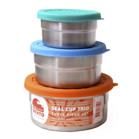 ECOlunchbox - Eco Seal Cup Runda burkar 3 delar