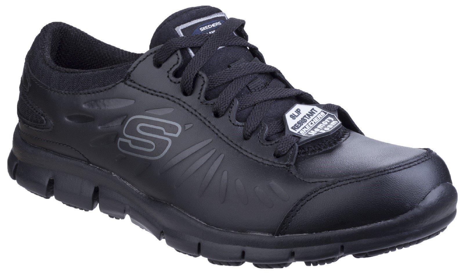 Skechers Women's Eldred Lace Up Shoe Black 25218 - Black 3