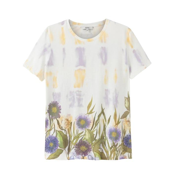 Desigual Women's T-Shirt White 189398 - white S