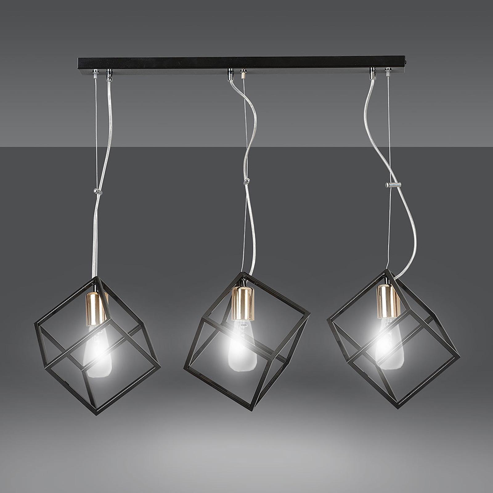 Riippuvalaisin Ambition 3, 3-lamppuinen, musta