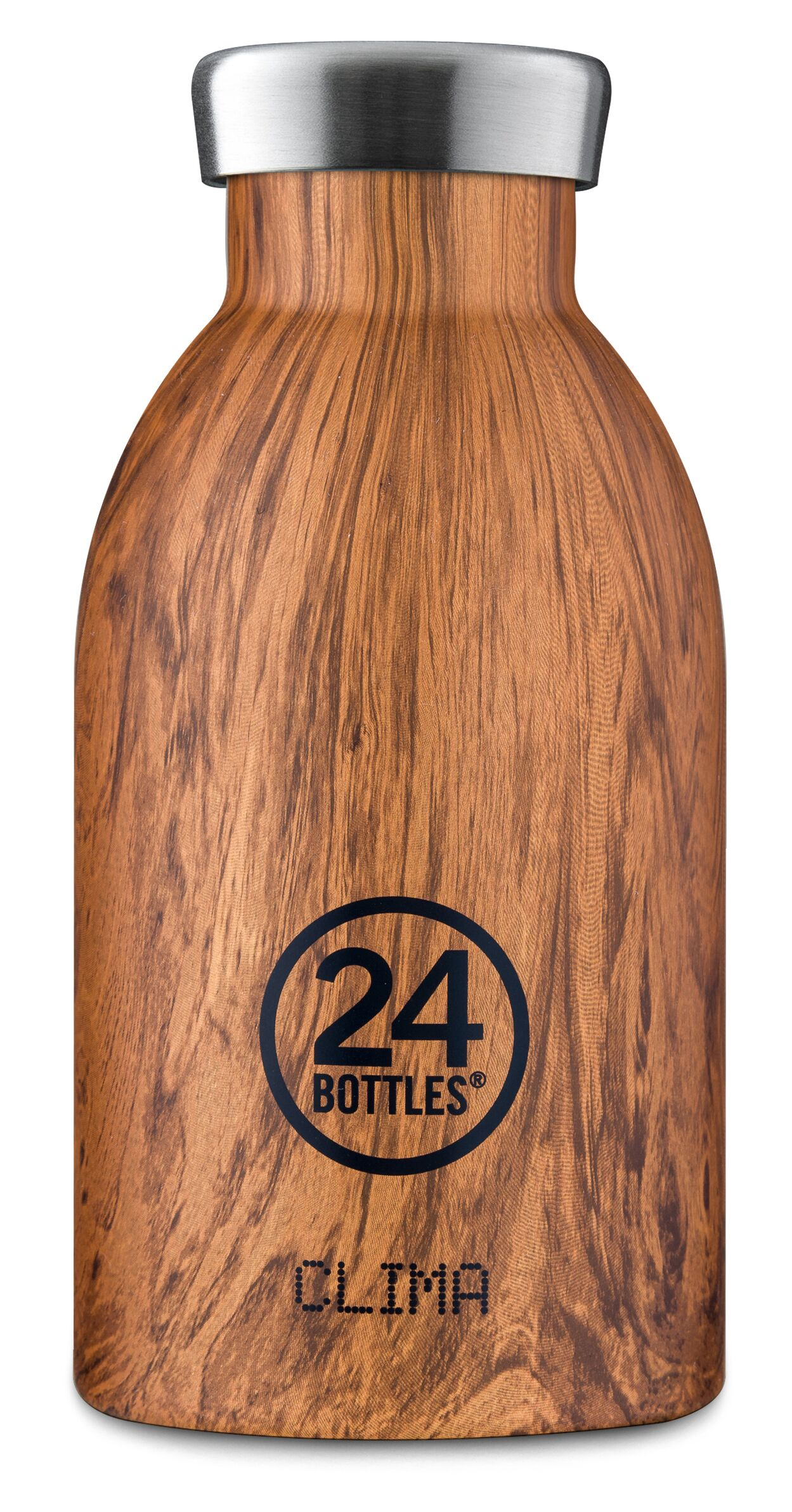 24 Bottles - Clima Bottle 0,33 L - Sequoia Wood Print