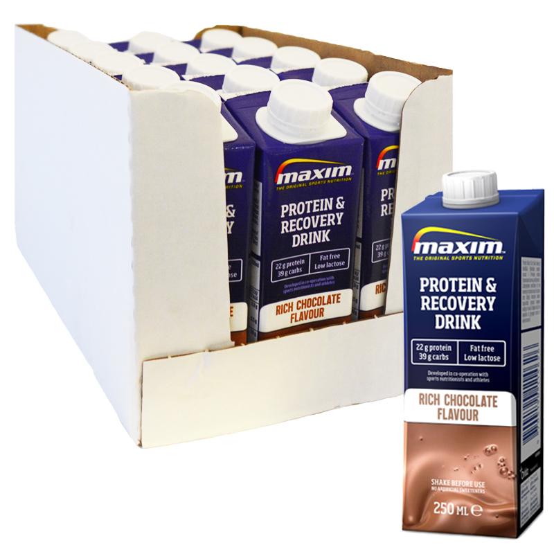 "Hel Låda Proteindryck ""Recovery Chocolate"" 15 x 250ml - 67% rabatt"