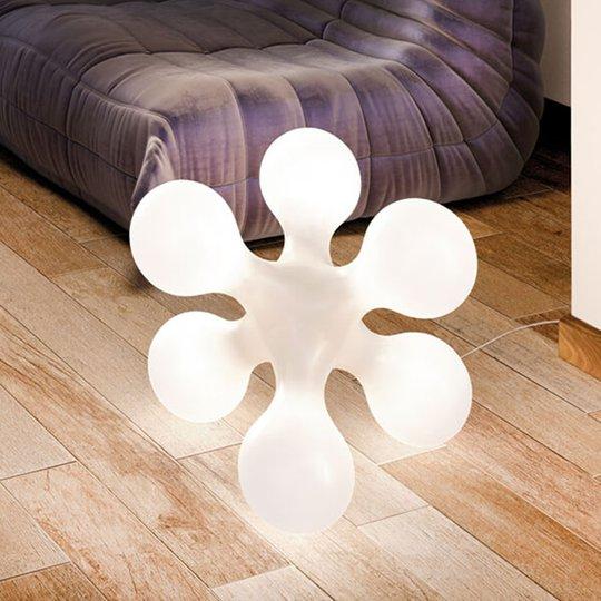 Design-pöytävalaisin Atomium