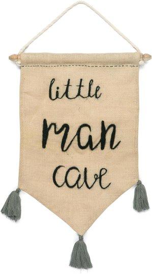 KidsDepot Sammie Veggdekor Little Man Cave, Black
