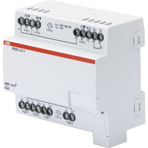 ABB 2CDG110214R0011 Puhallinkonvektorisäädin 0–10 V 2 x 0–10 V:n moottoriventtiili Manuaalinen kytkin: Ei