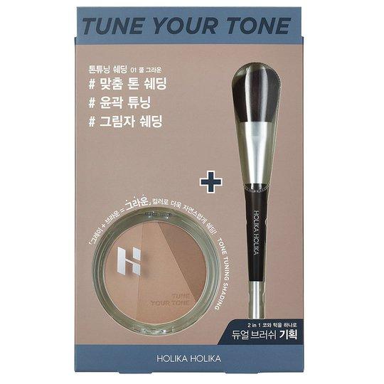 Tone Tuning Shading Dual Brush Set, 9,5 g Holika Holika Meikkisiveltimet