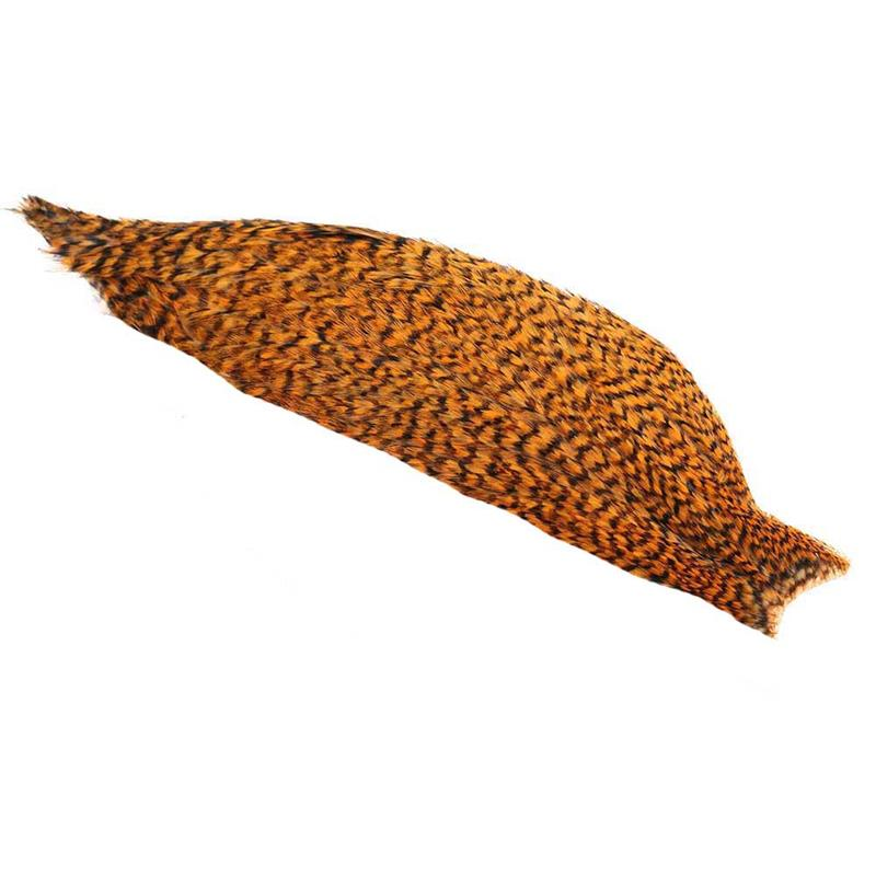 Whiting 1/2 American Rooster Cape Grizzly Shrimp Orange