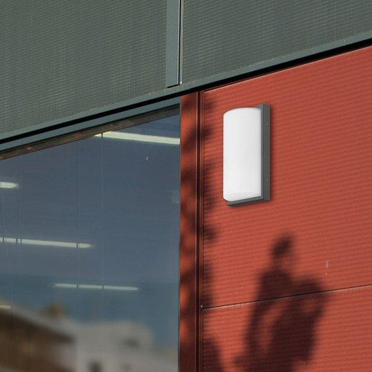 Utendørs LED-vegglampe 039 sensor, grafitt