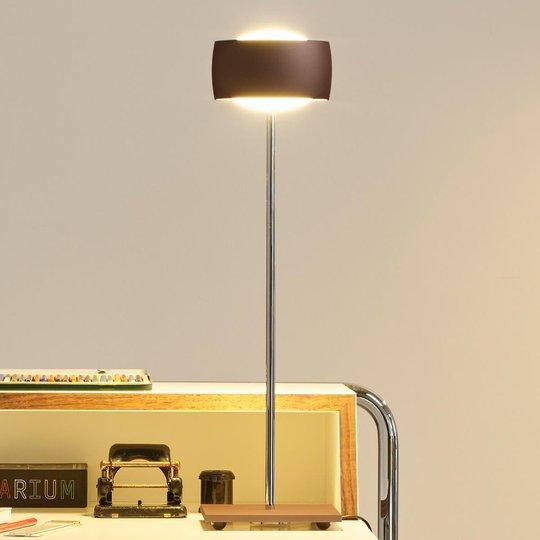 Eleohjauksella - LED-pöytälamppu Grace ruskea