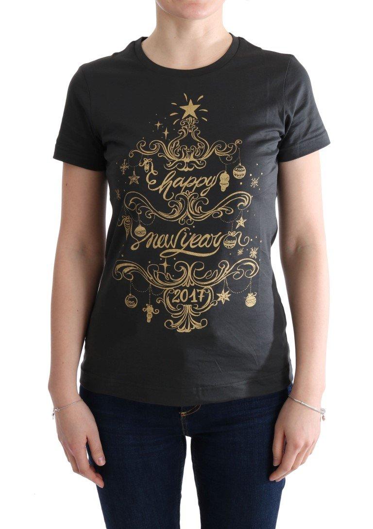Dolce & Gabbana Women's Cotton 2017 Motive T-Shirt Gray TUI10005 - IT40|S