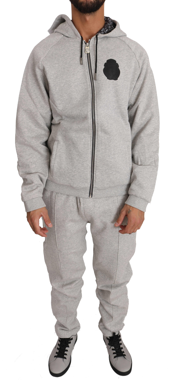 Billionaire Italian Couture Men's Hoodie Tracksuit Grey BIL1028 - L