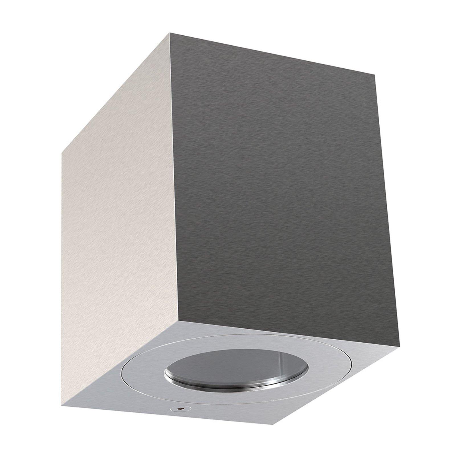 LED-utevegglampe Canto Kubi 2 10 cm rustfritt stål